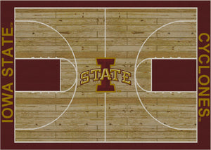 Iowa State University Basketball Court Rug  College Area Rug - Fan Rugs