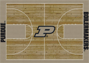Purdue University Basketball Court Rug  College Area Rug - Fan Rugs