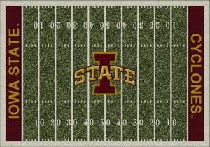 Iowa State University Football Field Rug  College Area Rug - Fan Rugs