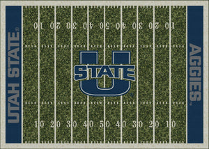 Utah State University Football Field Rug  College Area Rug - Fan Rugs