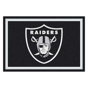 Las Vegas Raiders Plush Rug  NFL Area Rug - Fan Rugs