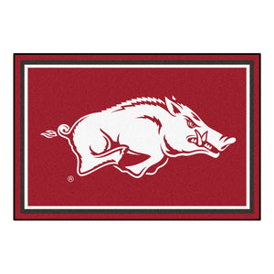 Arkansas University Plush Rug  College Area Rug - Fan Rugs
