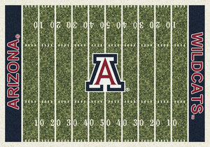 Arizona University Football Field Rug  College Area Rug - Fan Rugs