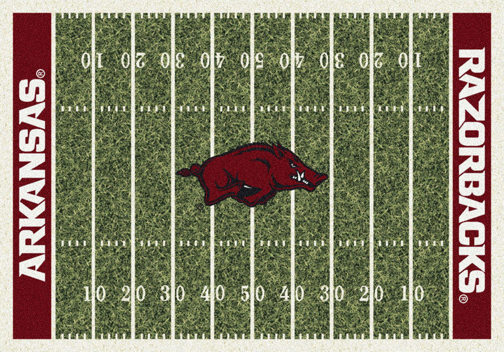 Arkansas Area Rug University Football Field ...