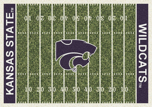 Kansas State University Football Field Rug  College Area Rug - Fan Rugs