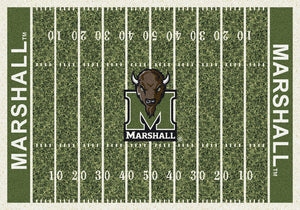 Marshall University Football Field Rug  College Area Rug - Fan Rugs