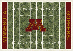 Minnesota University Football Field Rug  College Area Rug - Fan Rugs