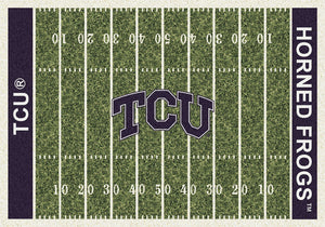 Texas Christian University Football Field Rug  College Area Rug - Fan Rugs