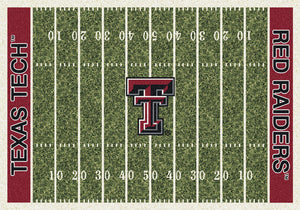 Texas Tech University Football Field Rug  College Area Rug - Fan Rugs