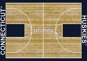 Connecticut University Basketball Court Rug  College Area Rug - Fan Rugs