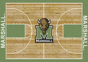 Marshall University Basketball Court Rug  College Area Rug - Fan Rugs