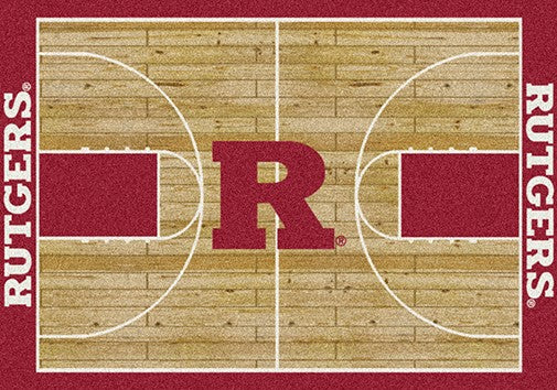 Rutgers University Basketball Court Rug Fan Rugs