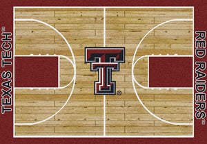 Texas Tech University Basketball Court Rug  College Area Rug - Fan Rugs