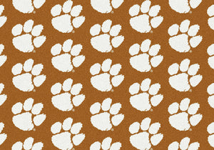 Clemson University Repeating Logo Rug  College Area Rug - Fan Rugs