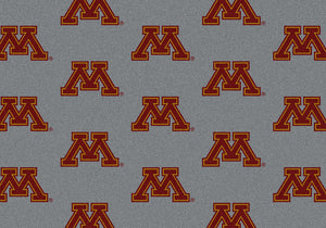 Minnesota University Repeating Logo Rug  College Area Rug - Fan Rugs