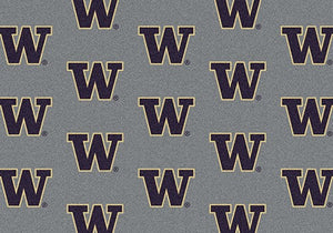 Washington University Repeating Logo Rug  College Area Rug - Fan Rugs