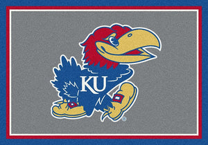 Kansas University Team Spirit Rug  College Area Rug - Fan Rugs