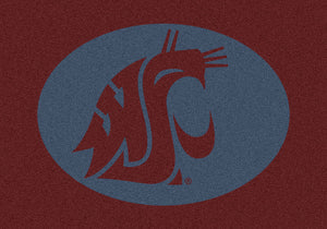 Washington State University Team Spirit Rug  College Area Rug - Fan Rugs