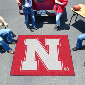 University of Nebraska Tailgater Mat  College Tailgater Mat - Fan Rugs