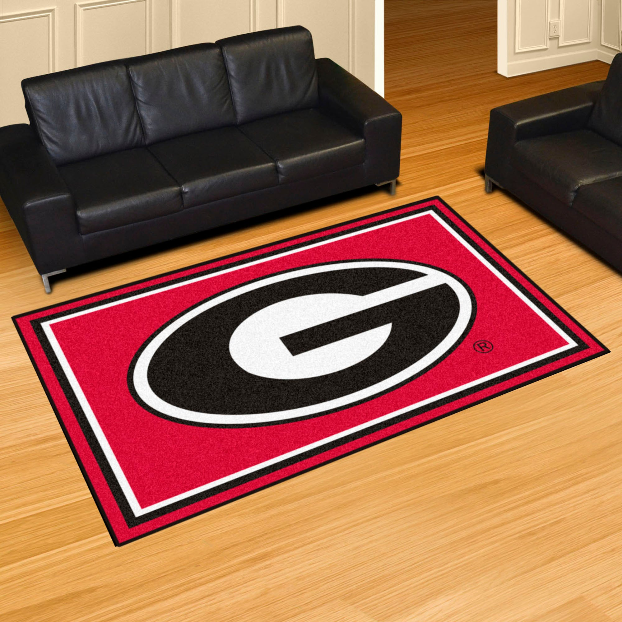 Georgia University Plush Rug  College Area Rug - Fan Rugs