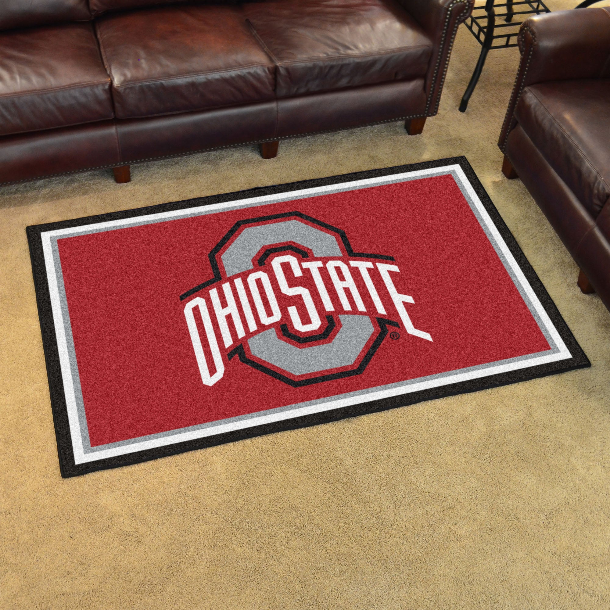 Ohio State University Plush Rug  College Area Rug - Fan Rugs