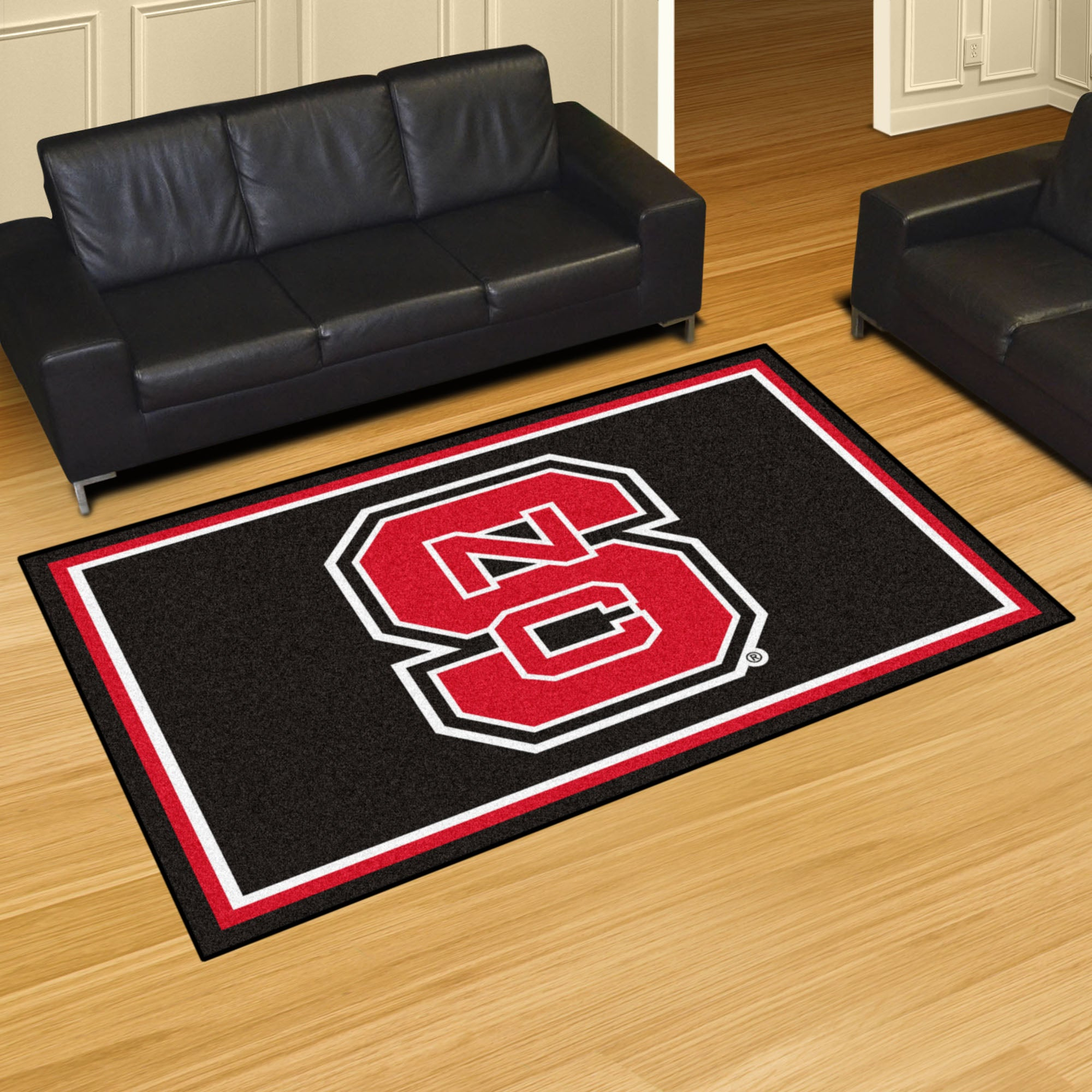 North Carolina State University Plush Rug  College Area Rug - Fan Rugs