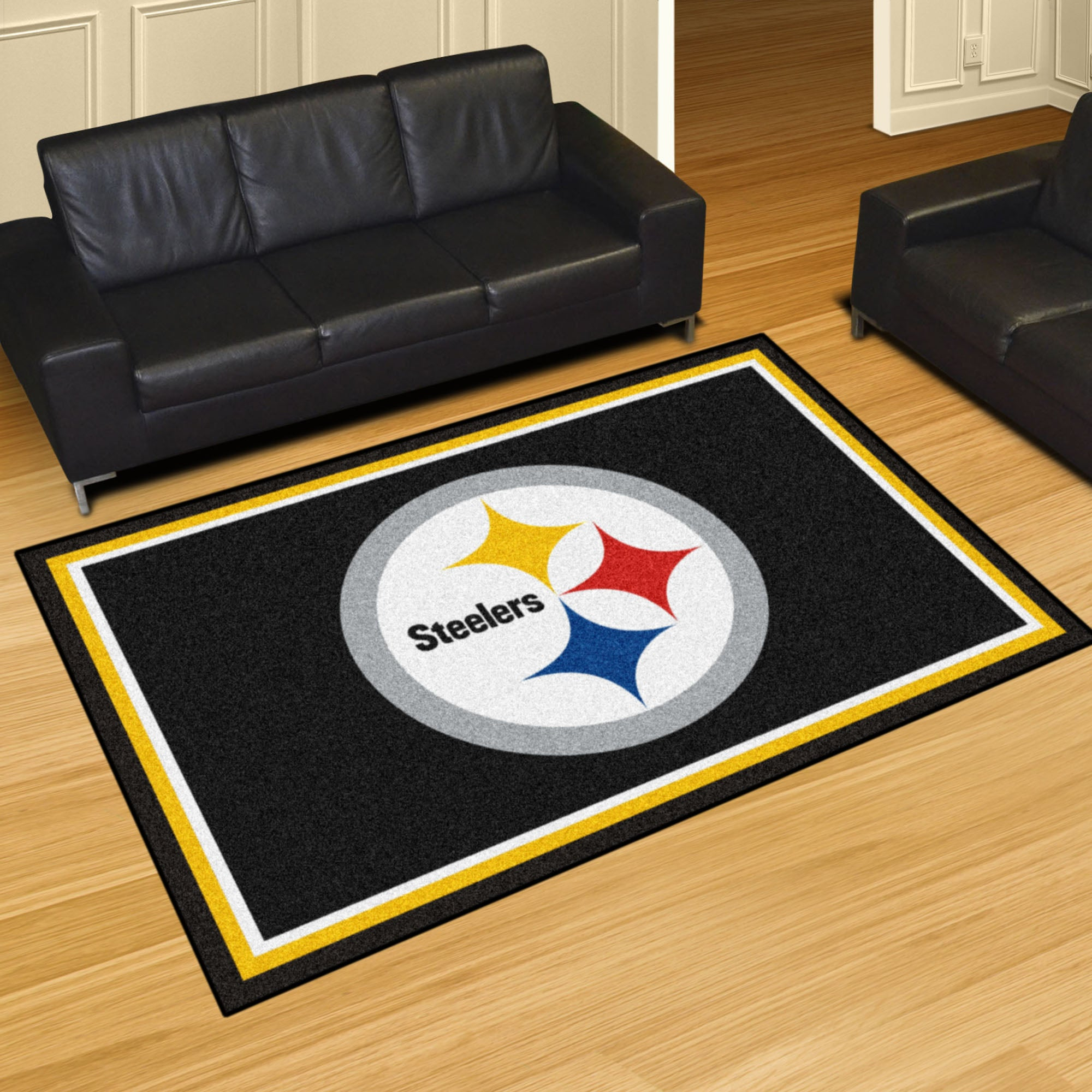 Pittsburgh Steelers Plush Rug  NFL Area Rug - Fan Rugs