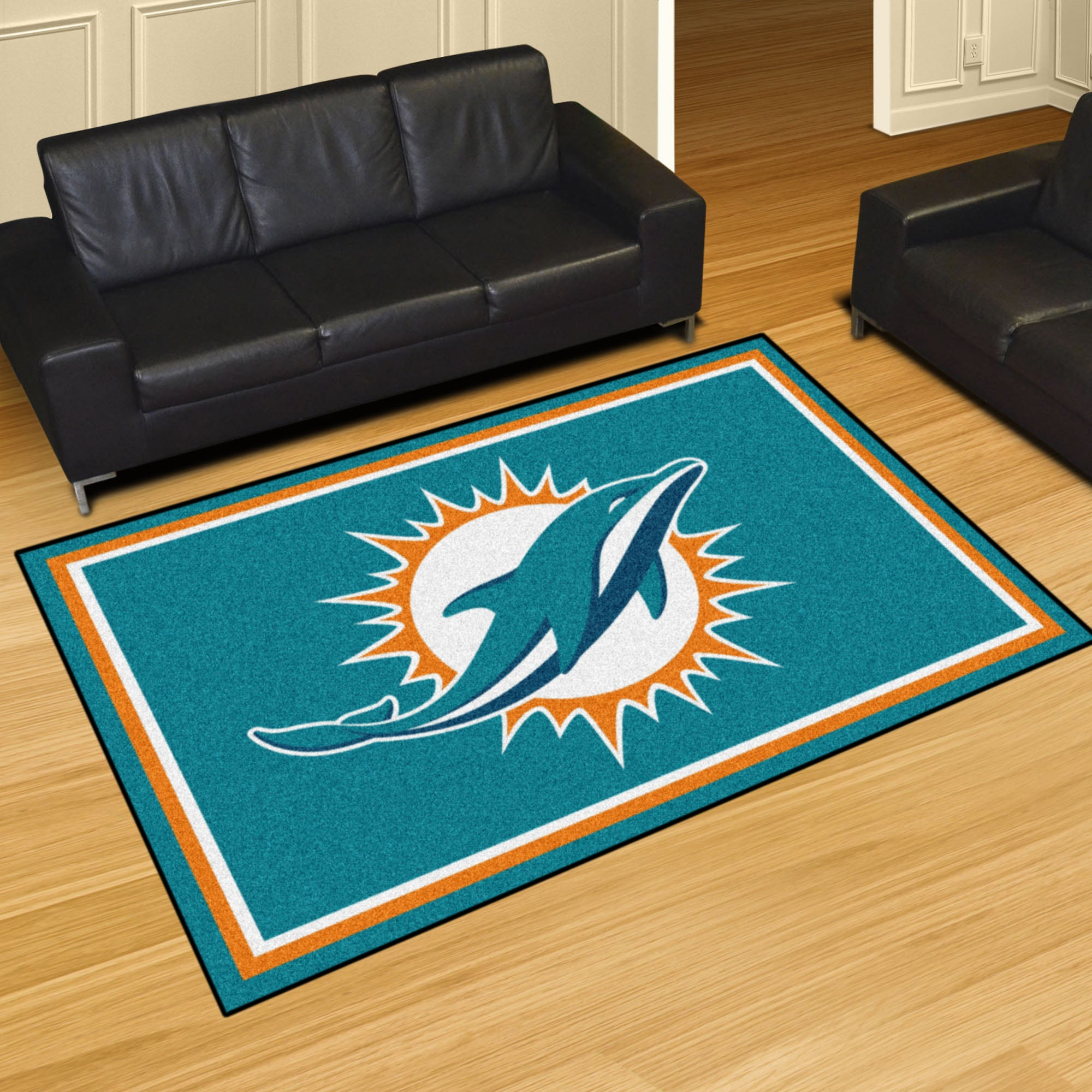 Miami Dolphins Plush Rug  NFL Area Rug - Fan Rugs