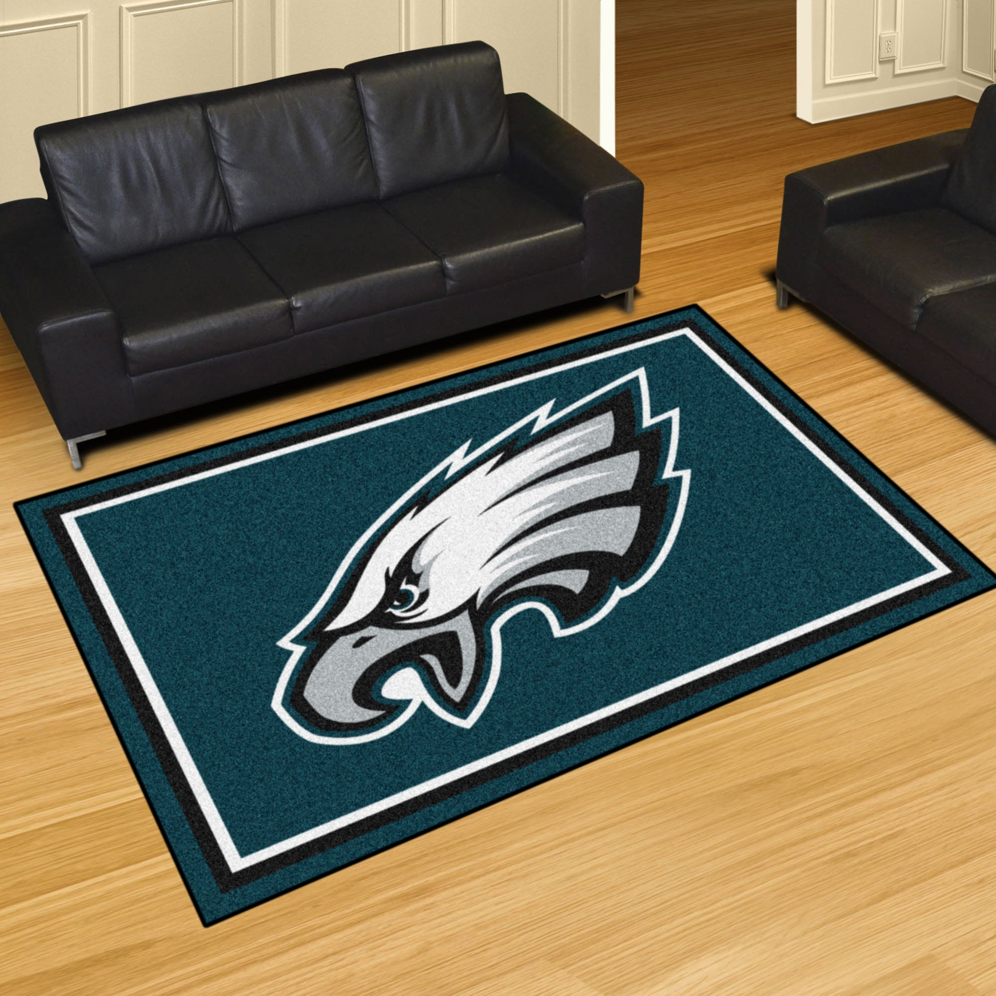 Philadelphia Eagles Plush Rug  NFL Area Rug - Fan Rugs