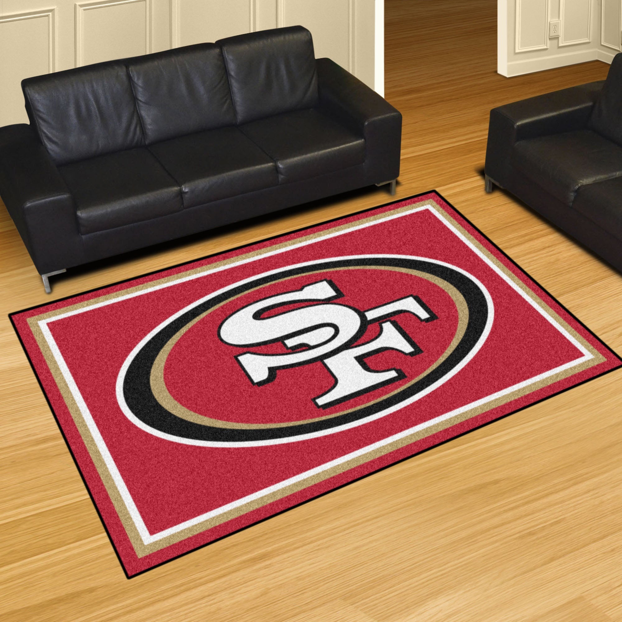 San Francisco 49ers Plush Rug  NFL Area Rug - Fan Rugs