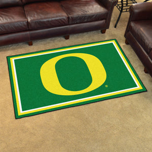 University of Oregon Plush Rug  College Area Rug - Fan Rugs