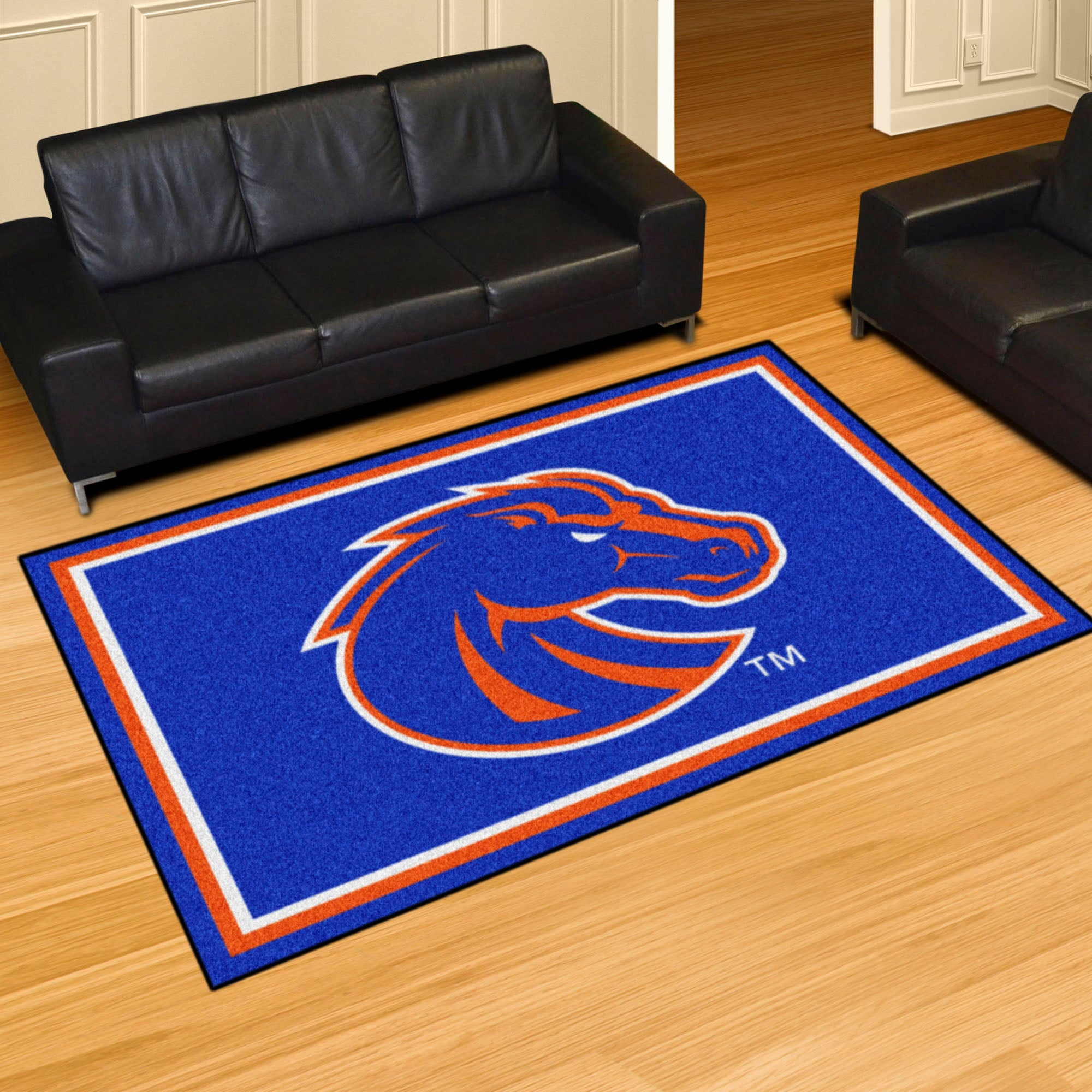 Boise State University Plush Rug  College Area Rug - Fan Rugs