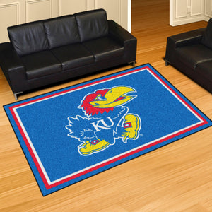 University of Kansas Ultra Plush Rug  College Area Rug - Fan Rugs
