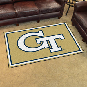 Georgia Tech Plush Rug  College Area Rug - Fan Rugs