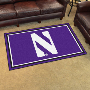 Northwestern University Plush Rug  College Area Rug - Fan Rugs