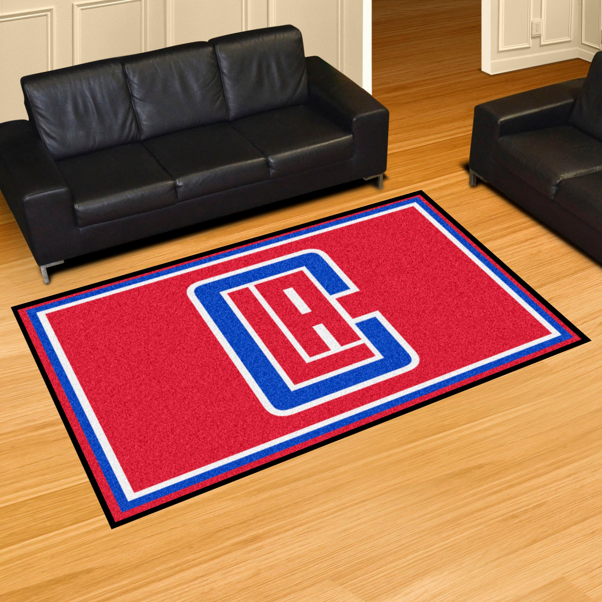 Los Angeles Clippers Rug  NBA Area Rug - Fan Rugs