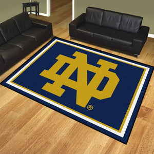 Norte Dame Plush Rug  College Area Rug - Fan Rugs