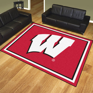 University of Wisconsin Plush Rug  College Area Rug - Fan Rugs