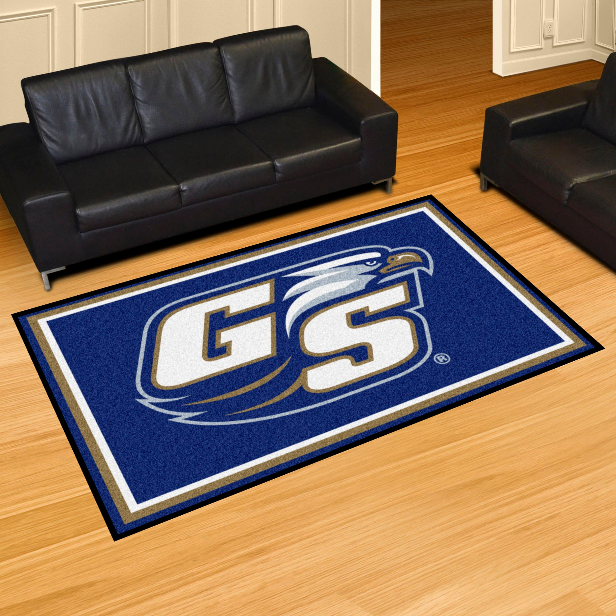 Georgia Southern University Plush Rug  College Area Rug - Fan Rugs