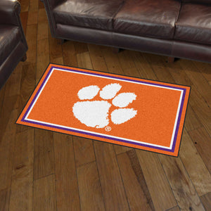 Clemson University Plush Rug  College Area Rug - Fan Rugs