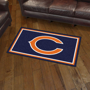 Chicago Bears Plush Rug  NFL Area Rug - Fan Rugs