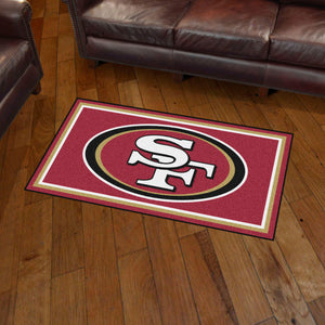 San Francisco 49ers Plush Rug  College Area Rug - Fan Rugs