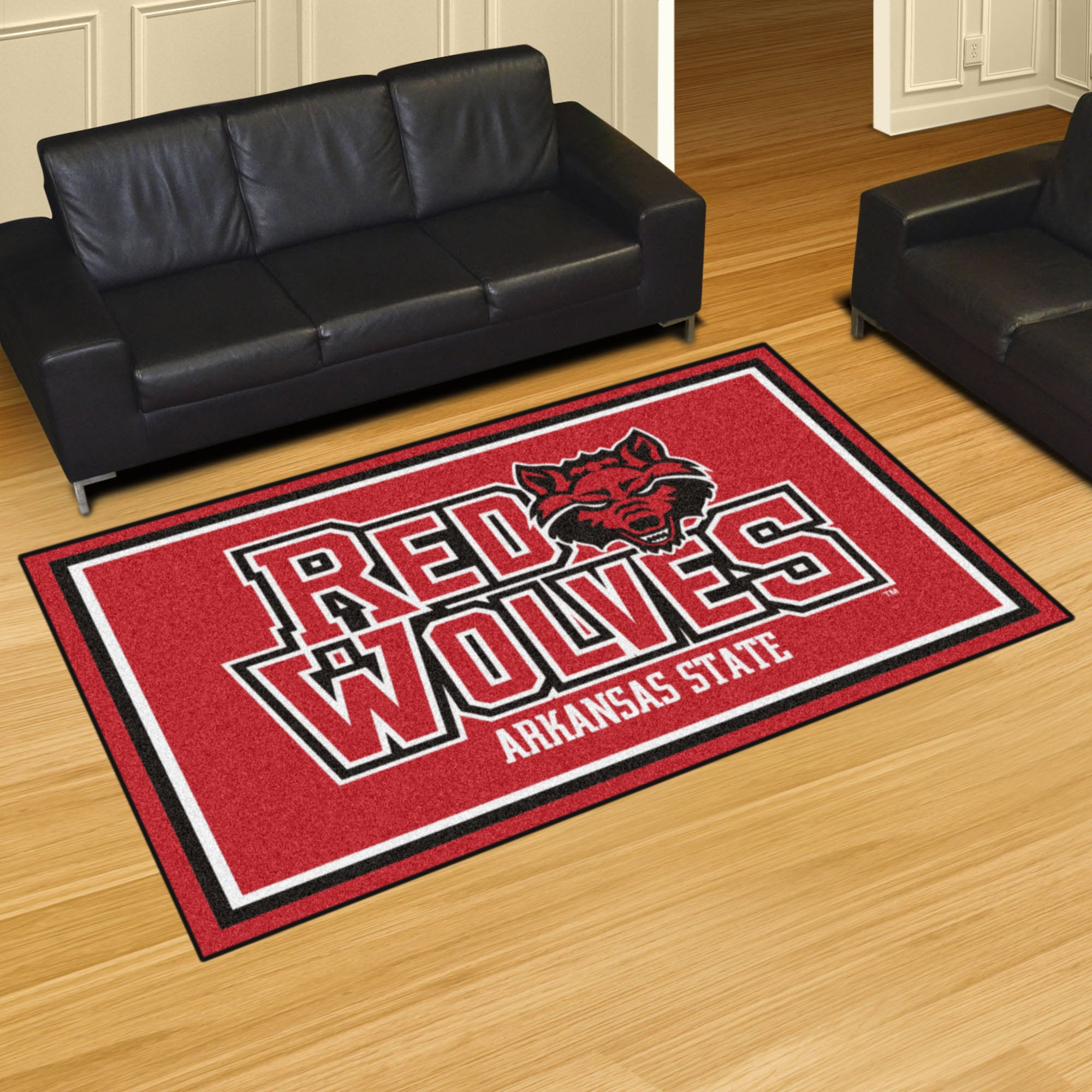 Arkansas State University Plush Rug  College Area Rug - Fan Rugs