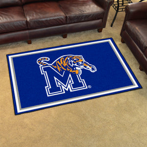 University of Memphis Plush Rug  College Area Rug - Fan Rugs