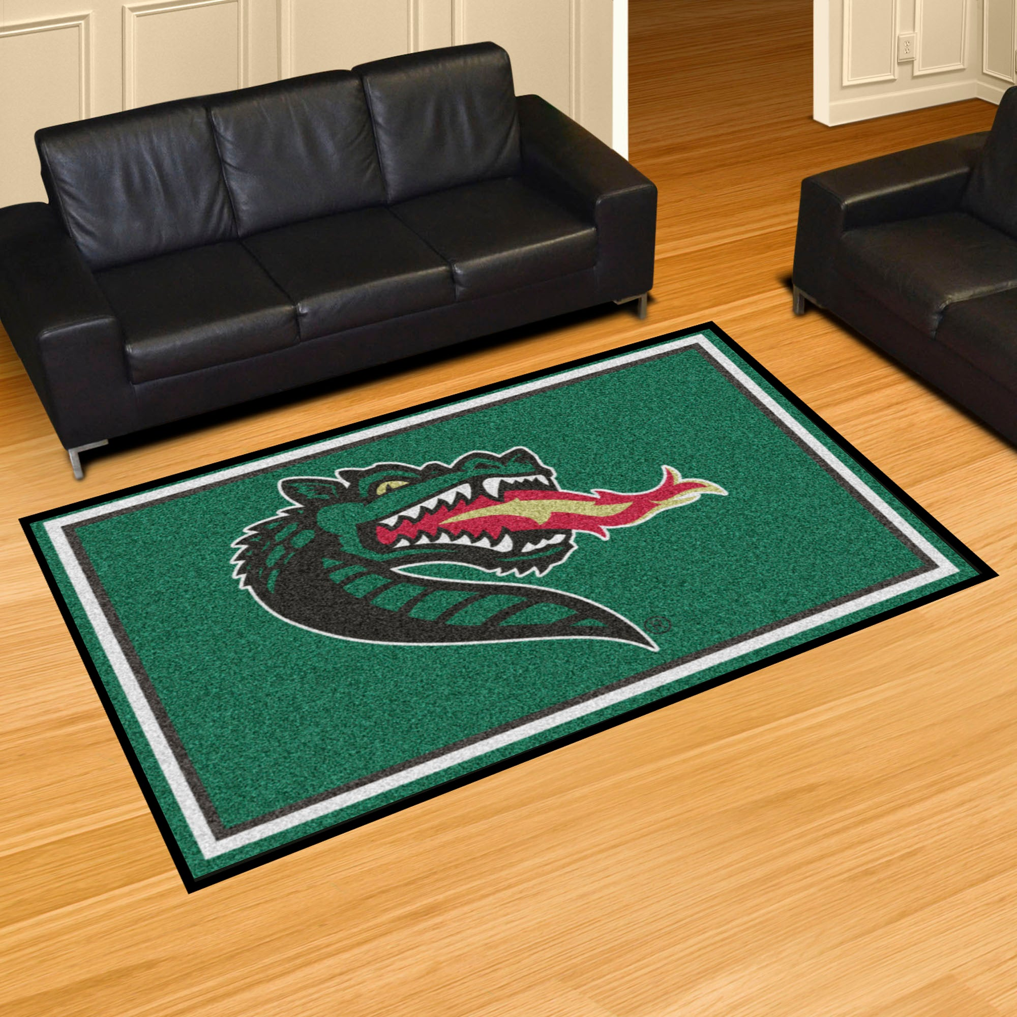 University of Alabama at Birmingham UAB Plush Rug  College Area Rug - Fan Rugs