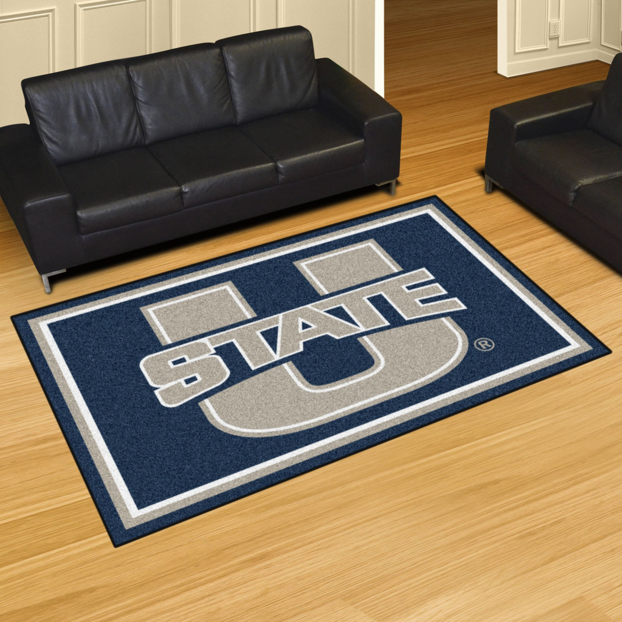Utah State University Plush Rug  College Area Rug - Fan Rugs