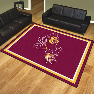 ASU -Arizona State University Sun Devils Mascot Plush Rug  College Area Rug - Fan Rugs