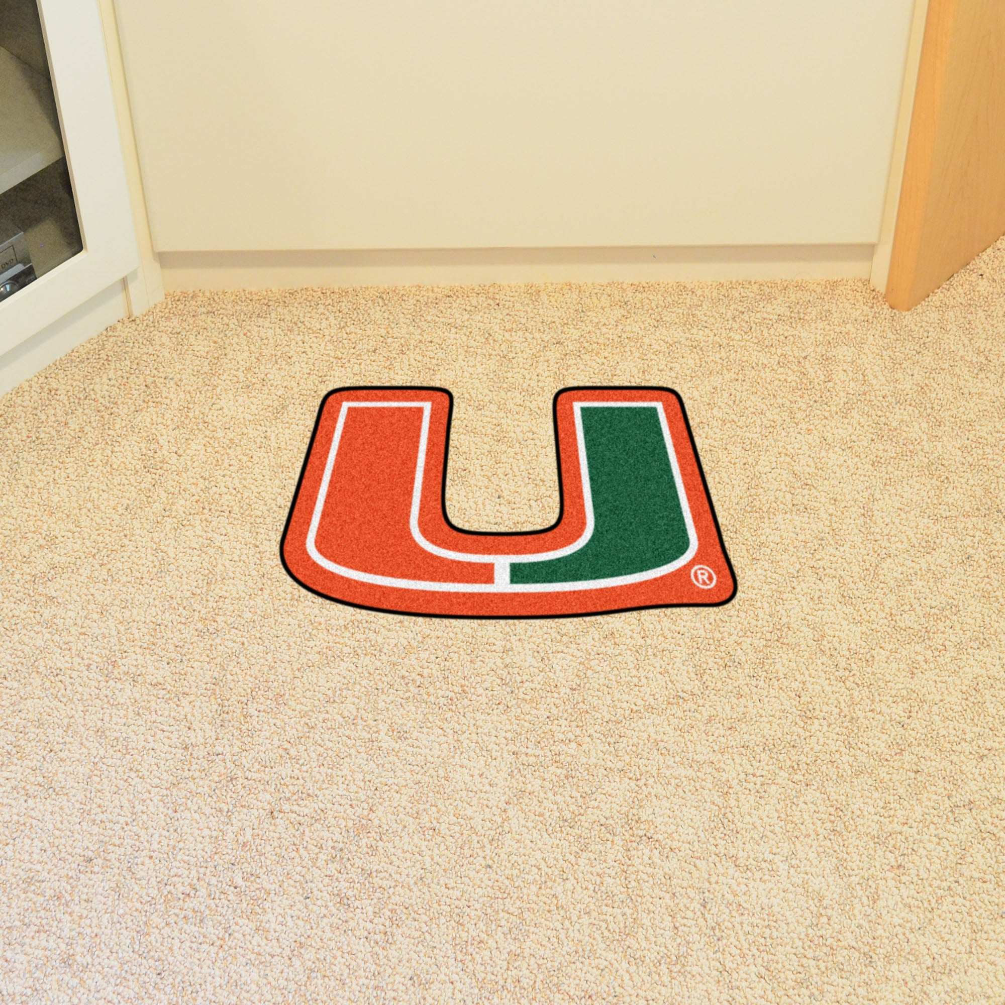 University of Miami U Mascot Mat