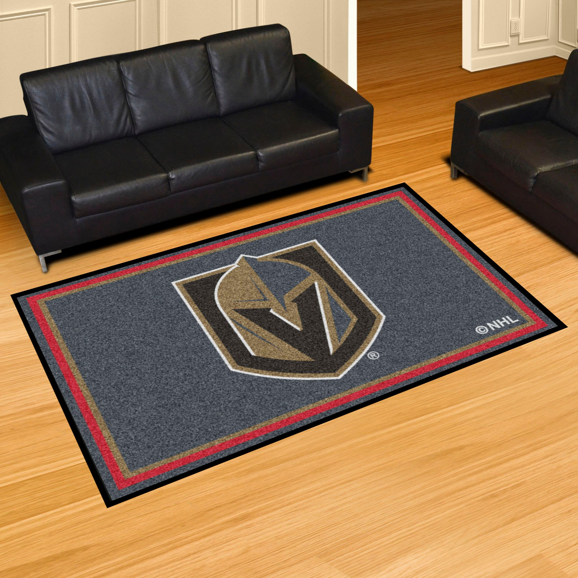 Vegas Golden Knights Plush Rug