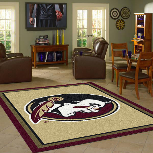 Florida State University Team Spirit Rug  College Area Rug - Fan Rugs